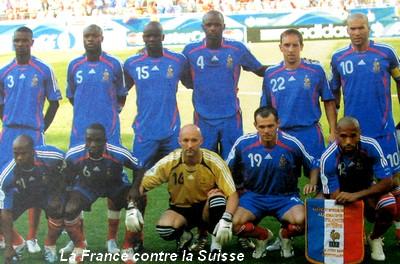 Coupe du monde 13 juin 2006 france suisse 0 0 - Coupe du monde 2006 france bresil ...