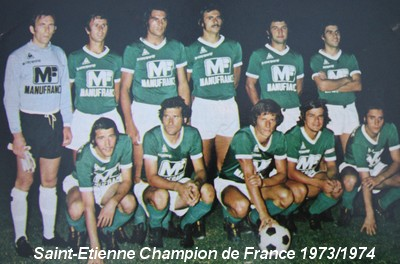 l 39 histoire du championnat de france 1973 1974 les verts au. Black Bedroom Furniture Sets. Home Design Ideas