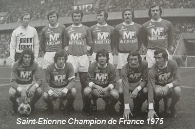 Les verts en coupe d 39 europe l 39 histoire du championnat de france 1974 1975 le doubl pour saint - St etienne coupe d europe ...