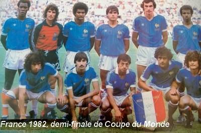 Histoire de la coupe du monde 1982 retrospective de la - Equipe de france 1982 coupe du monde ...