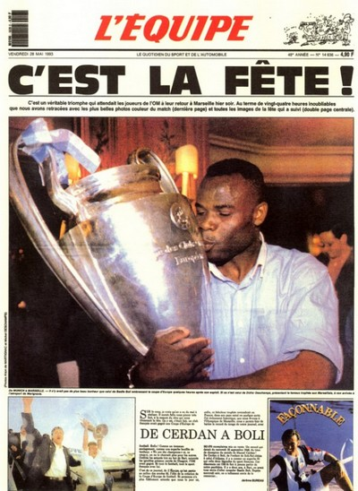 Om milan 1 0 coupe d 39 europe des clubs champions 1993 but - Coupe d europe des clubs champions 1993 ...