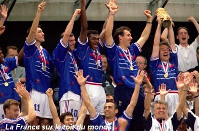 France br sil 3 0 thuram desailly barthez zidane ronaldo - Joueur coupe du monde 98 ...