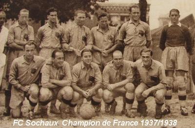 l 39 histoire du championnat de france de football 1937 1938 sochaux champion avec mattler et courtois. Black Bedroom Furniture Sets. Home Design Ideas