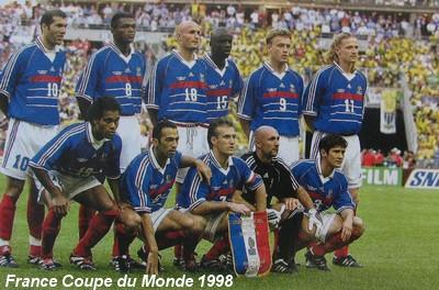 France br sil 3 0 thuram desailly barthez zidane ronaldo - Emmanuel petit coupe du monde 1998 ...