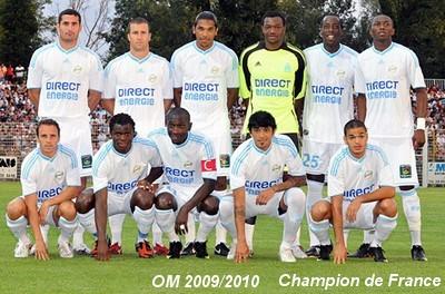ensemble de foot Olympique de Marseille ÉQUIPE